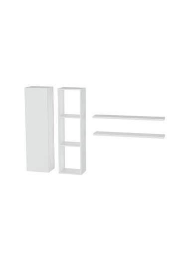 Sanal Mobilya Hayal Duvar Rafı & Çok Amaçlı Dolap Seti 357 Beyaz